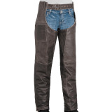 River Road Women's Drifter Leather Chaps - Motorcycle