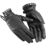 River Road Women's Tallahassee Leather Gloves - River Road Cruiser Riding Gear