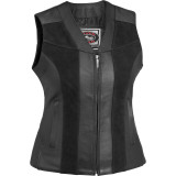 River Road Women's Santa Rosa Leather Vest - River Road Cruiser Riding Gear