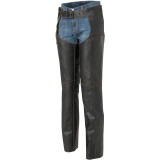 River Road Women's Vintage Leather Chap - Motorcycle