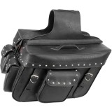 River Road Quantum Series Zip Off & Quick Release Slant Saddlebags - River Road Cruiser Luggage and Racks