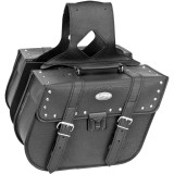 River Road Quest Series Rigid Zip Off Slant Saddlebags With Security Lock - River Road Cruiser Luggage and Racks
