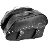 River Road Quantum Series Zip Off & Quick Release Windswept Saddlebags - River Road Cruiser Luggage and Racks
