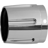 Rush Performance Taper With Horizontal Grooves Muffler Tip - Cruiser Exhaust Accessories