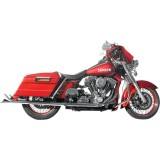 Samson True Dual Crossover Full System With Longtail Mufflers - Cruiser Exhaust Systems