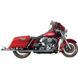 Samson True Dual Crossover Full System With Straight Longtail Mini Cholo Mufflers - Cruiser Exhaust Systems