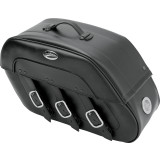 Saddlemen Drifter Quick Release Saddlebags With LED Marker Light - Saddlemen Motorcycle Luggage