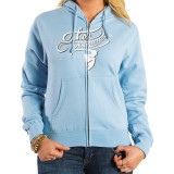 Thor 2014 Women's Curly-Q Fleece Zip Hoody - Motorcycle Womens Casual