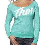 Thor Women's Script Off Shoulder Fleece - Utility ATV Womens Casual