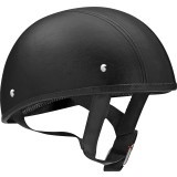 Vega XTS Naked Helmet - Leather - Motorcycle Half Shell Helmets