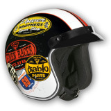 Vega X-380 Helmet - Old Skool -  Open Face Motorcycle Helmets