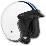 Vega X-380 Helmet - Striped -  Open Face Motorcycle Helmets