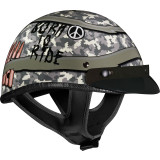 Vega XTA Helmet - Born To Ride - Motorcycle Half Shell Helmets