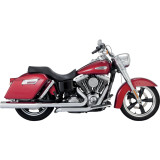Vance & Hines Switchback Duals Exhaust With Monster Rounds Slip-on Mufflers - Cruiser Exhaust Systems
