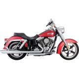 Vance & Hines Switchback Duals Exhaust With Twin Slash Slip-on Mufflers - Cruiser Exhaust Systems