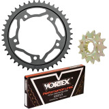 Vortex 520 Steel Sprocket & Chain Kit - Kawasaki 2015-EX250-NINJA-250--VORTEX-SPROCKET-CHAIN-KIT-520-BLACK Vortex Motorcycle