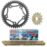 Vortex 525 Steel Sprocket & Chain Kit - Suzuki 2015-SV650-ABS--VORTEX-SPROCKET-CHAIN-KIT-520-BLACK Vortex Motorcycle