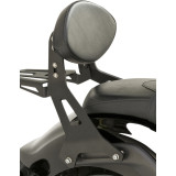 Yamaha Star Accessories Fixed Mount Midnight Short Passenger Backrest - Cruiser Sissy Bars