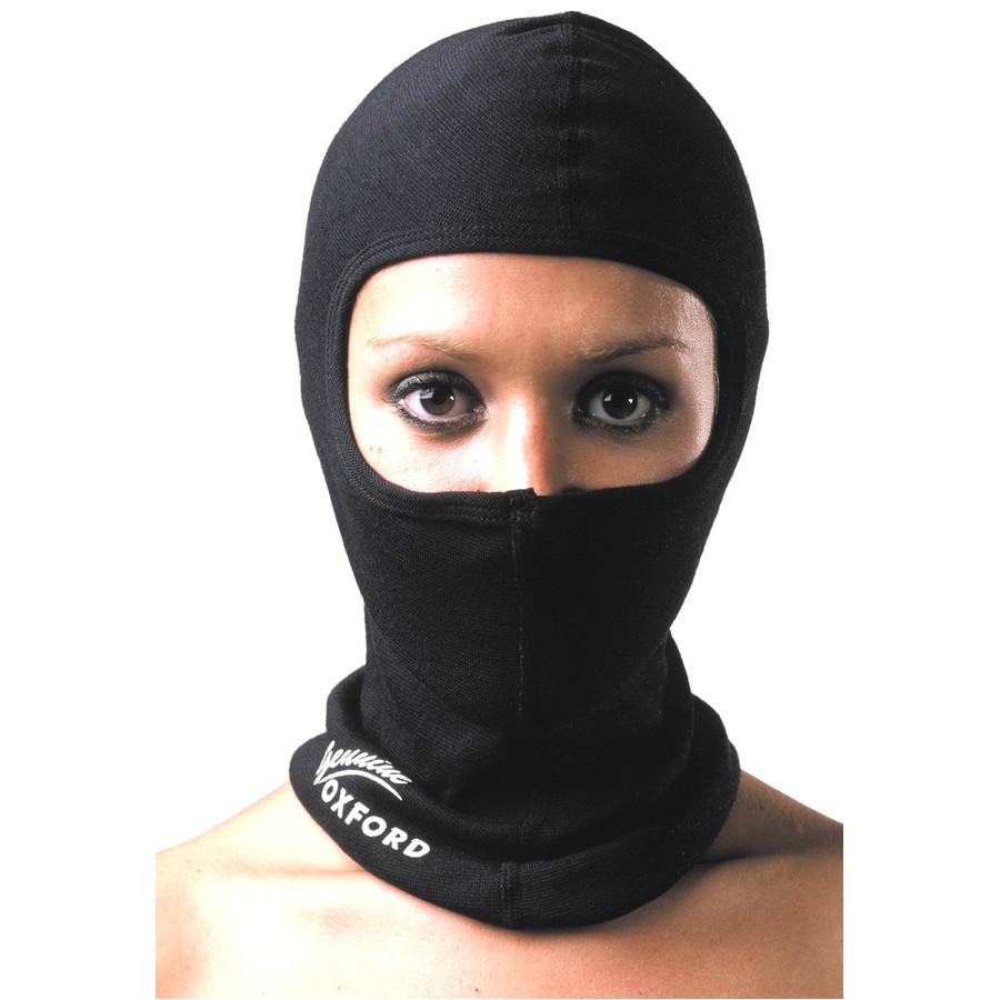Oxford Cool Max Balaclava for Cyclists//Motorcyclists One Size Black