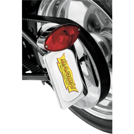 Baron Custom Accessories Side Mount License With Brake Light