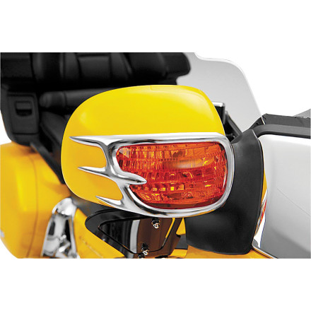 Show Chrome Accessories Mirror Back Accent Grilles