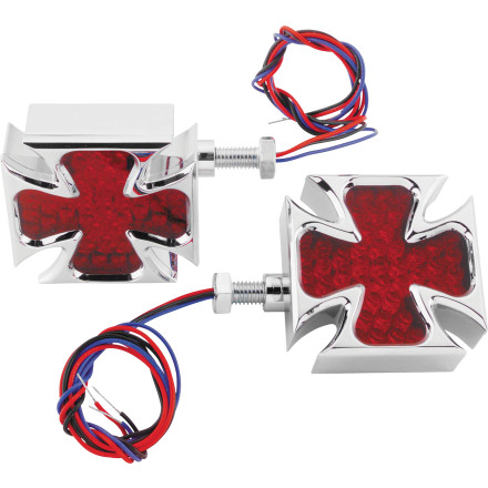 Biker's Choice LED Maltese Cross Turn Signals