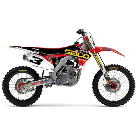 D'COR Visuals 2015 Geico Shroud/Trim Graphics Kit - Honda