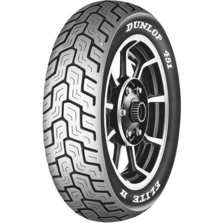 Dunlop 491 Elite II Raised White Letter Rear Tire