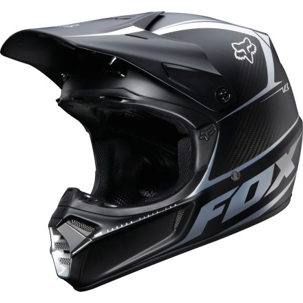 Fox Racing 2012 V3 Helmet - Carbon Matte [obs]