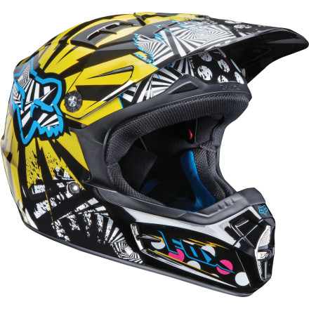 Fox Racing 2010 Youth V1 Helmet - Camplosion [obs]