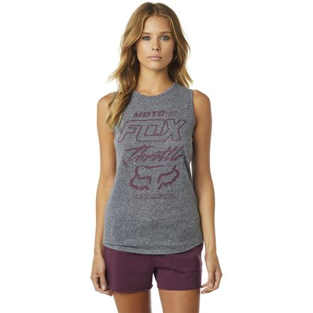 2ab43014c1e5f Fox Racing Women s Throttle Maniac Muscle Tank. Free First Exchange.  Heather Graphite. Heather Graphite
