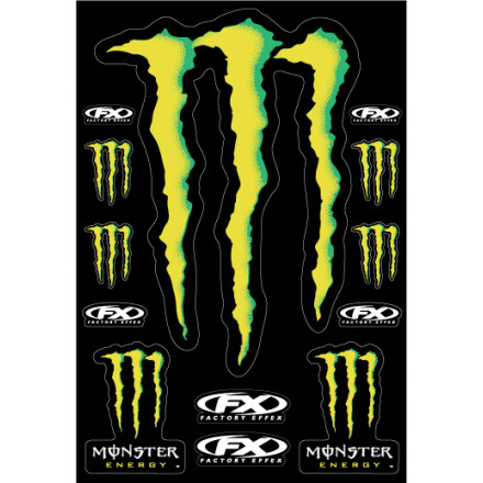 Factory Effex Monster Energy XL Sticker Kit Sheet