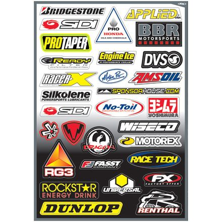 Factory Effex Sponsor/Logo Sticker Sheets