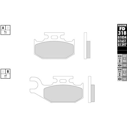 Galfer Sintered Brake Pads