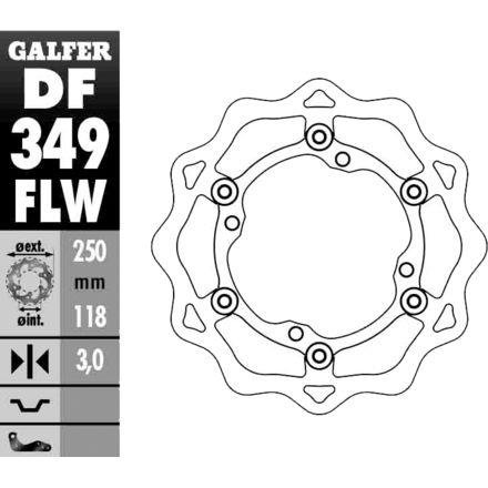 Galfer Standard Wave Brake Rotor - Front