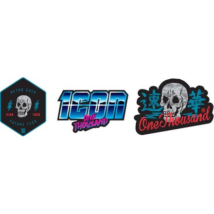 ICON 1000 Retro Skull Decal Pack