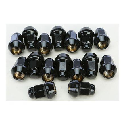 ATV Black Lug Nuts H.D Lug Nuts for Honda TRX 450r FourTrax Foreman Rancher Rubicon Rincon /& More Set of 16