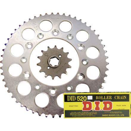 JT Steel Chain And Sprocket Kit