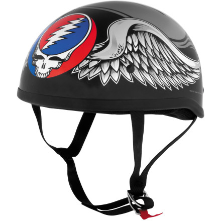 River Road Grateful Dead Helmet - Flying Steal Your Face