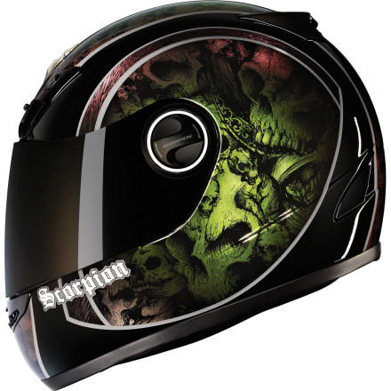 Scorpion Exo-400 Helmet - Skull Bucket [obs]