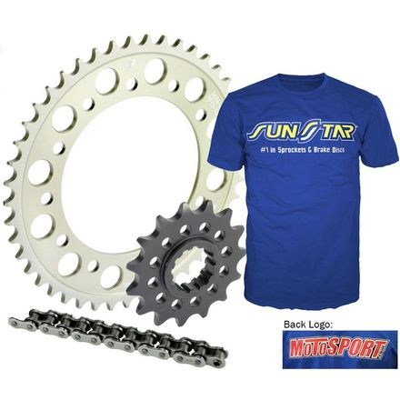 Sunstar 520 Aluminum Sprocket And Chain Kit With Free Shirt