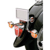 Show Chrome Tail Light Visor - Yamaha Star Accessories Metal Rear Fender Tip