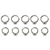 BikeMaster 10-Piece Replacement Clamp Set For Fuel Line Swaging Kit - BikeMaster 428 Heavy-Duty Master Link