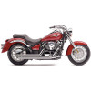 Cobra Speedster Slashdown Exhaust - 2007 Kawasaki Vulcan 900 Classic LT - VN900D Cobra FI2000R Digital Fuel Processor