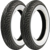 Dunlop Harley Davidson D402 Wide Whitewall Tire Combo - Dunlop Harley Davidson D402 Rear Tire - Wide Whitewall
