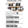 Factory Effex DX1 Backgrounds Signature - KTM - Applied R/S Triple Clamp Kit With Oversized Bar Mounts
