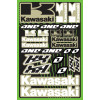 One Industries 2013 Kawasaki KX Decal Sheet - Factory Effex Monster Energy XL Sticker Kit Sheet