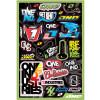 One Industries 2013 Logo Decal Sheet - Metal Mulisha Maiden Variety Sticker Pack