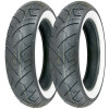 Shinko 777 Whitewall Tire Combo - Dunlop Harley Davidson D402 Rear Tire - Wide Whitewall