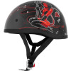 Skid Lid Original Helmet - Hell On Wheels - River Road Grateful Dead Helmet - Flying Steal Your Face